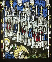 The seven churches of Asia in stained glass in York Minster by John Thornton