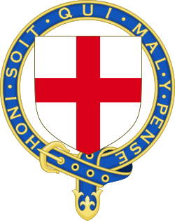 The Most Noble Order of the Garter, founded in 1348, is the highest order of chivalry and the third most prestigious honour (after the Victoria Cross and George Cross) in England and of the United Kingdom, and is dedicated to the image and arms of St. George as England's patron saint.
