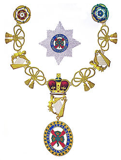 The Most Illustrious Order of Saint Patrick is a dormant British order of chivalry associated with Ireland. The Order was created in 1783 by George III at the request of the then Lord-Lieutenant, Lord Buckingham. The regular creation of knights of Saint Patrick lasted until 1921, when most of Ireland became independent as the Irish Free State.