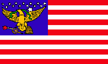 The Deseret Flag of Utah, featuring a Beehive