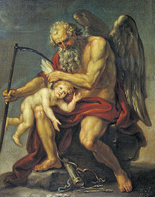 Saturn Cutting off Cupid's Wings with a Scythe (1802) by Ivan Akimov