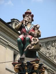 Saturn Statue Switzerland.