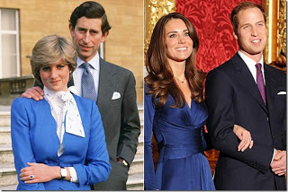 Like Diana, Kate wore a lovely blue engagement dress which matched her Saturn engagement ring made of blue sapphire that belonged to Diana. This dress was produced by her favorite designer Issa, perhaps a not-so-veiled allusion to Isis?