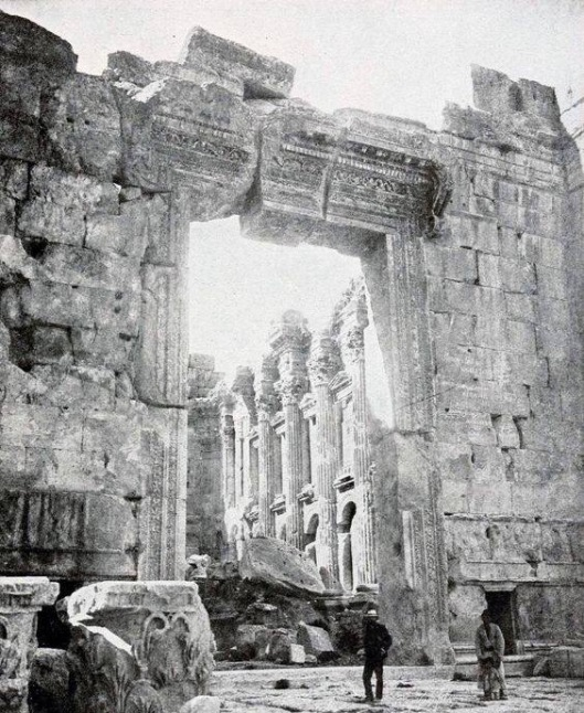 The giant doorway at the Temple of Jupiter, Baalbek, Lebanon.