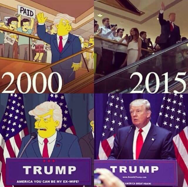 Trump / simpsons