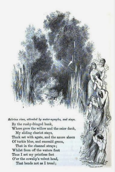 The Water Nymphs come to save Sabrina (pg 174)  from The Poetical Works of John Milton, Vol 2, with Memoir and Critical Remarks by James Montgomery, W. Kent & Co (London), 1859