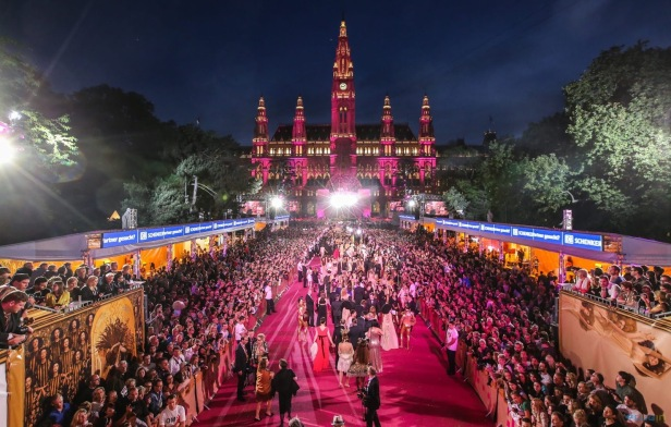 The Life Ball, which takes place in the Vienna City Hall