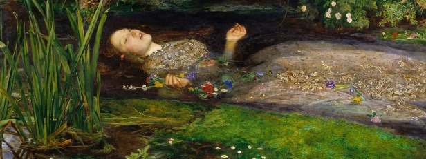 Ophelia by John Everett Millais (1852) is part of the Tate Gallery collection.