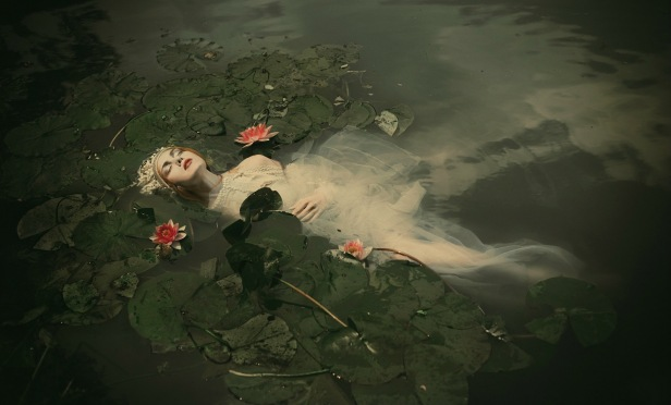 Ophelia recreated by photographer Dorota Gorecka